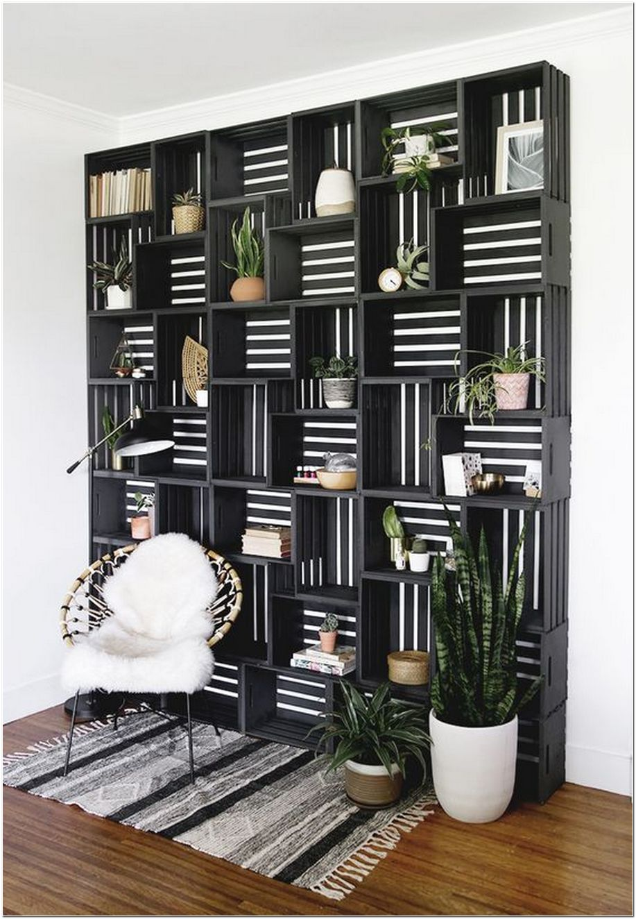 63+ How The DIY Crate Shelf Statement Wall Can Change Your Home