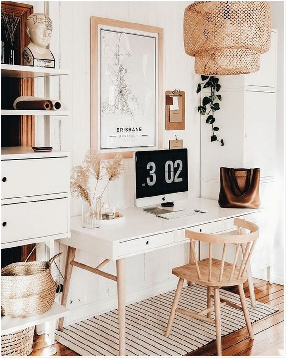64+ Boho Home Office Inspiration Ideas For Your